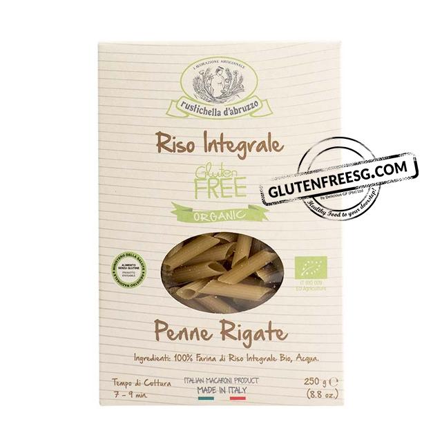 Rustichella Riso Integrale - Penne Rigate 250g