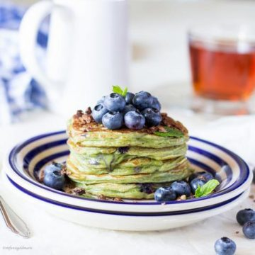 Sweet Green Pancakes