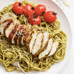 BASIL PESTO CHICKEN SPAGHETTI