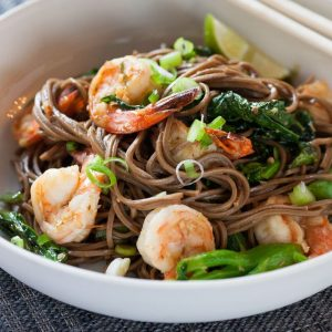 Lemongrass Shrimp with Soba Noodles