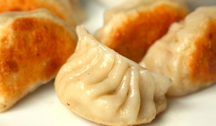 Fried Pork and Cabbage Dumplings