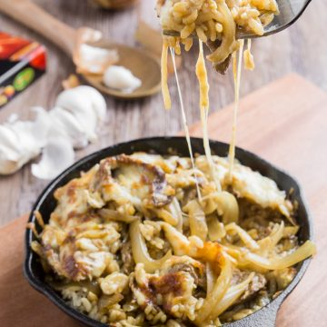 Cheesy Baked Japanese Beef Curry Rice
