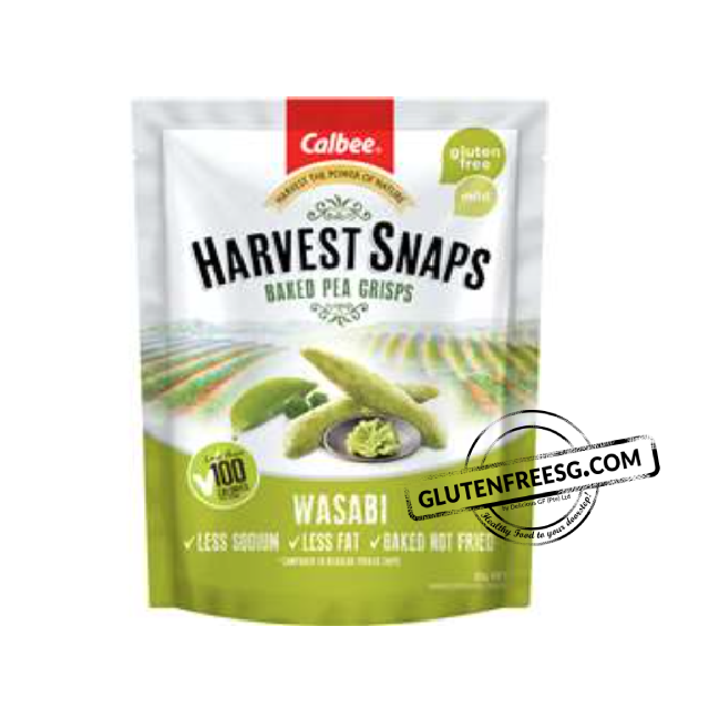 Calbee Harvest Snaps Baked Pea Wasabi
