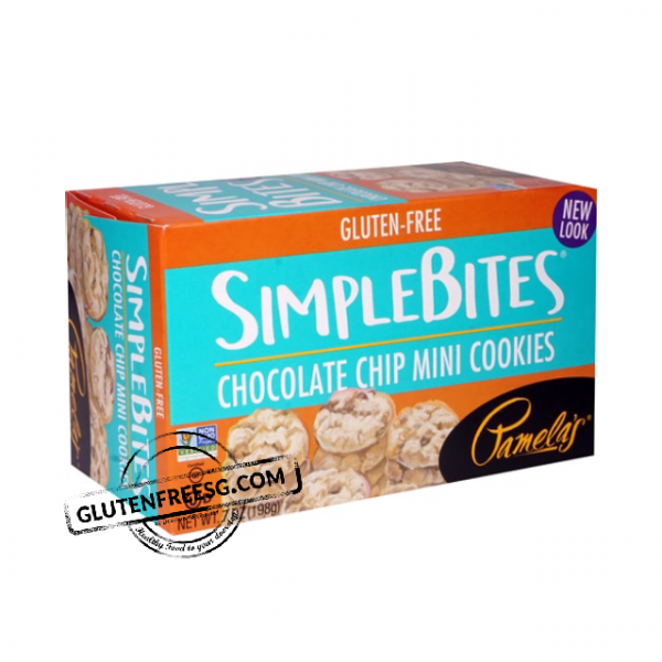 Pamelas Simple Bites Choc Chip Mini Cookies 198g