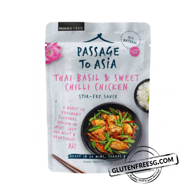 Passage Foods Thai Basil & Sweet Chilli Chicken Sauce 200g
