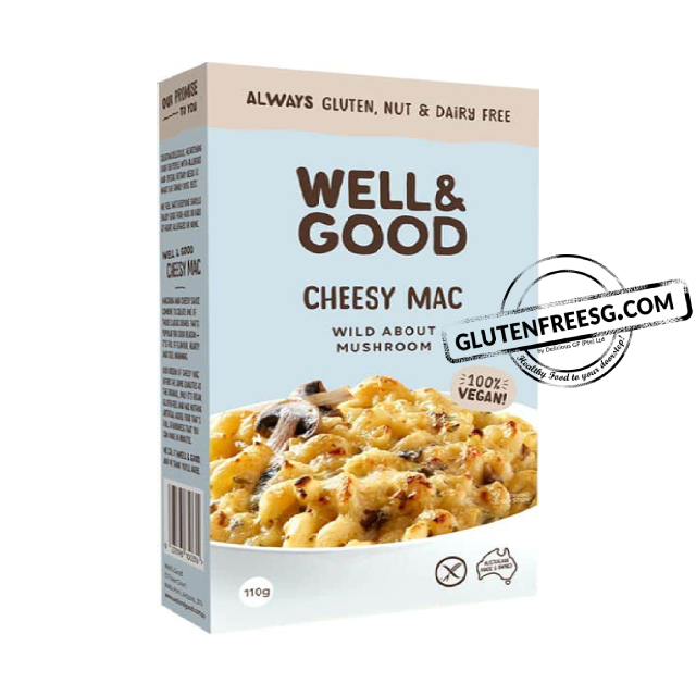 Well & Good Vegan Cheesy Mac – Wild About Mushroom 110g