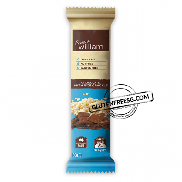 Sweet William Chocolate with Rice Crackle 50g
