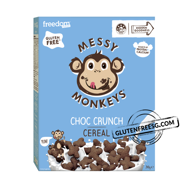 Freedom Foods Messy Monkeys Choc Crunch Cereal 240g
