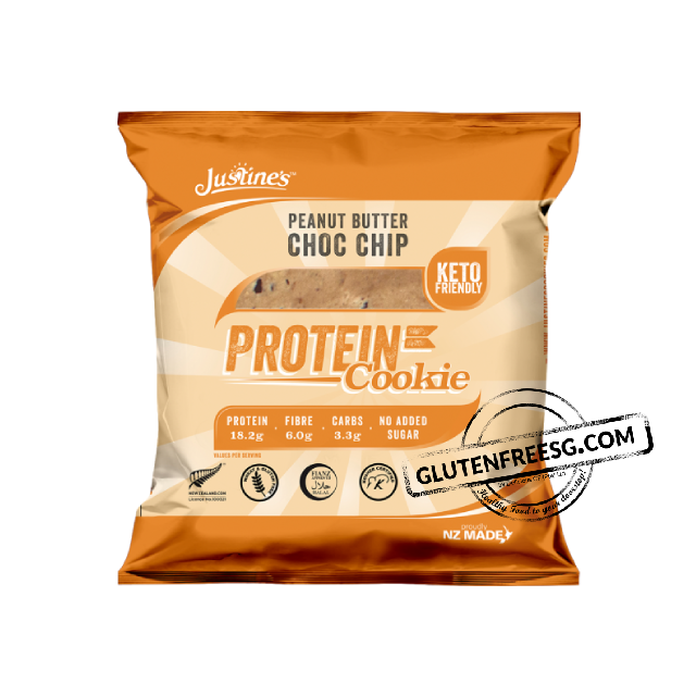 Justine's Peanut Butter Choc Chip Keto Friendly Cookies 64g