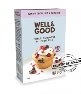 Well & Good Reduced Sugar Gluten Free Muffin Mix 400g