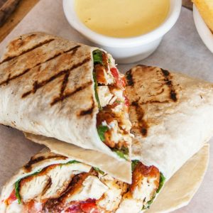 Grilled Chicken Pesto Wraps