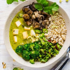 Easy Vegan Meal Thai Green Curry